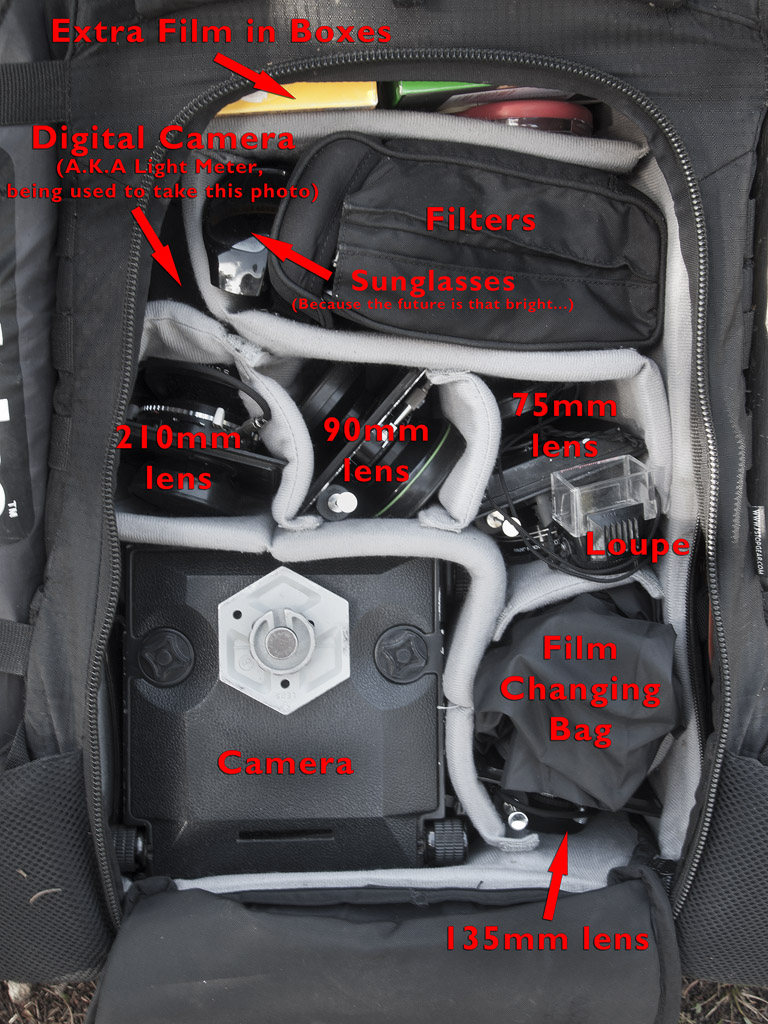 Inside of my backpacking bag