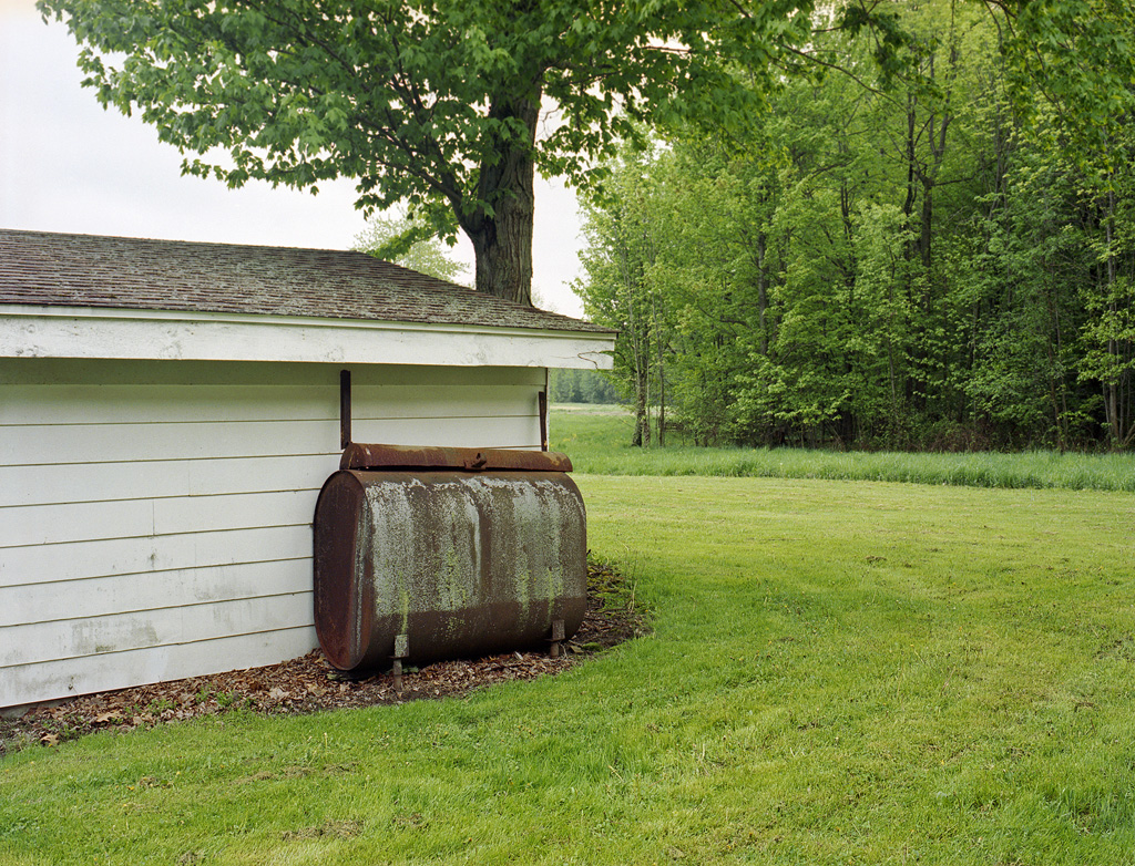 Storage shed and tank
