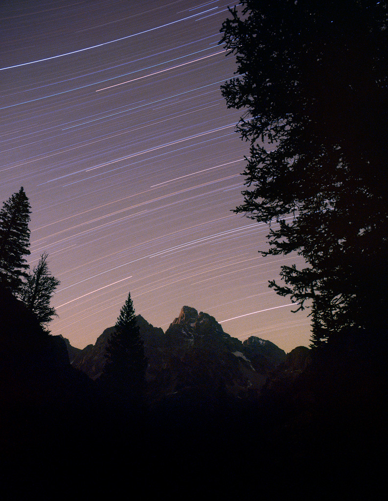 Stars over the Tetons