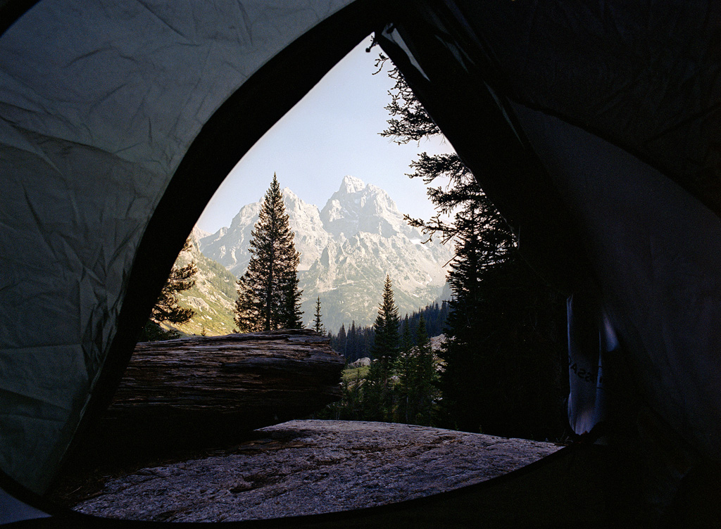 Tetons through the Tent
