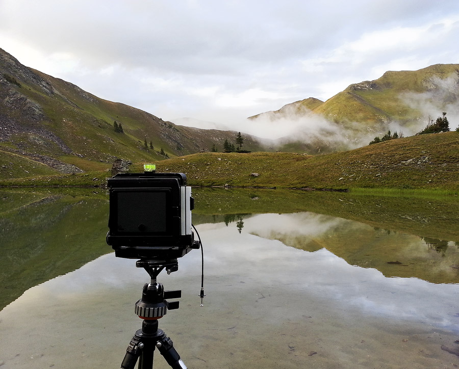 My camera at a remote backcountry lake in the Never Summer Wilderness.