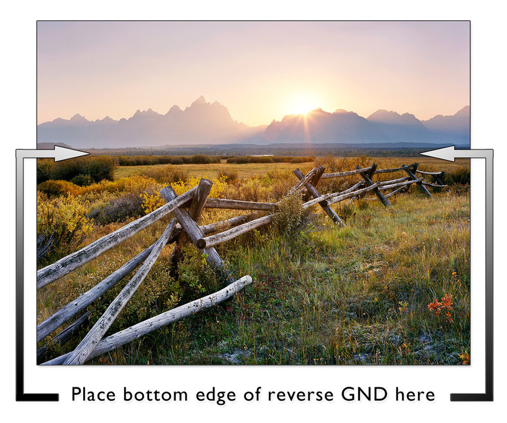 """Teton Fence Sunset"" - Ektar 100 4x5, 135mm lens, 1 second at f32, 3 stop reverse GND filter"
