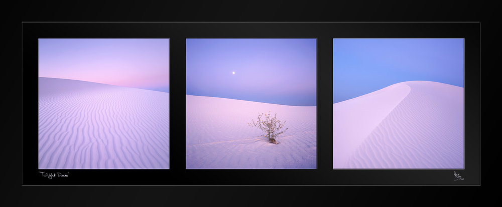 """Twilight Dunes"" Triptych"