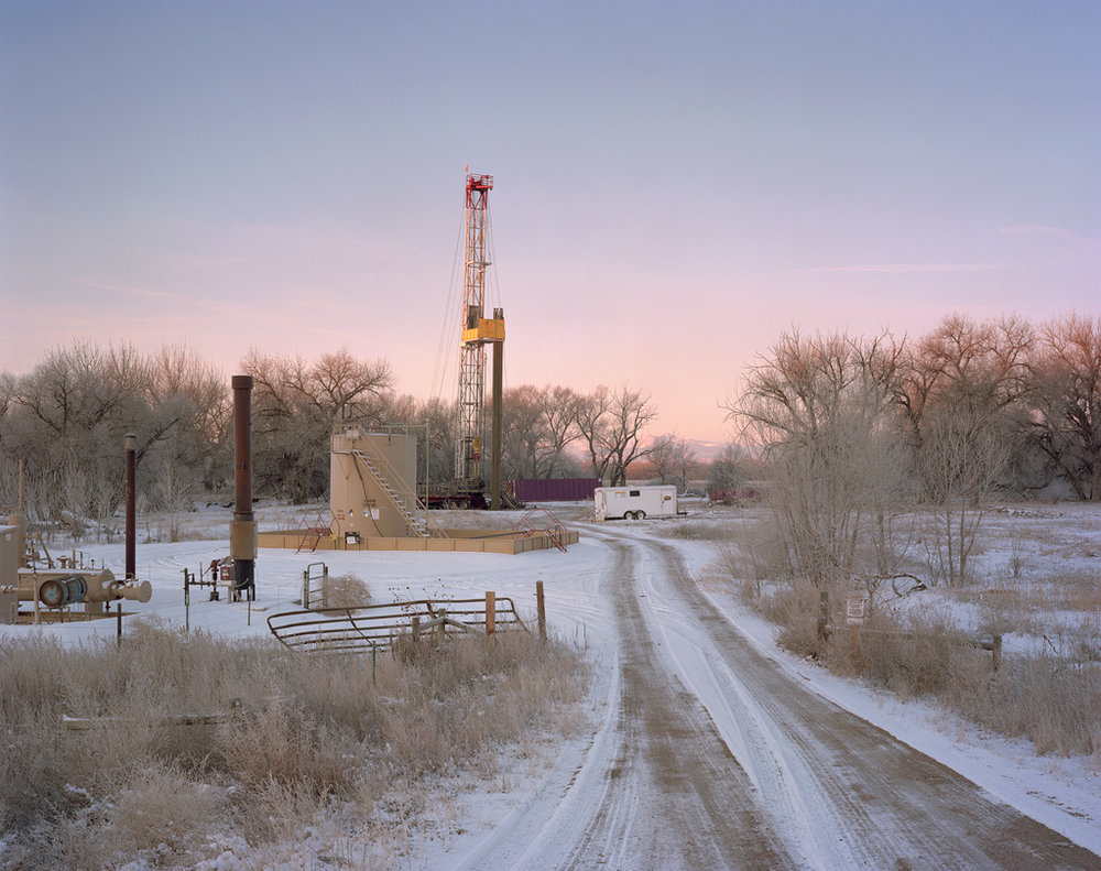 Drilling Rig and Snowy Access Road