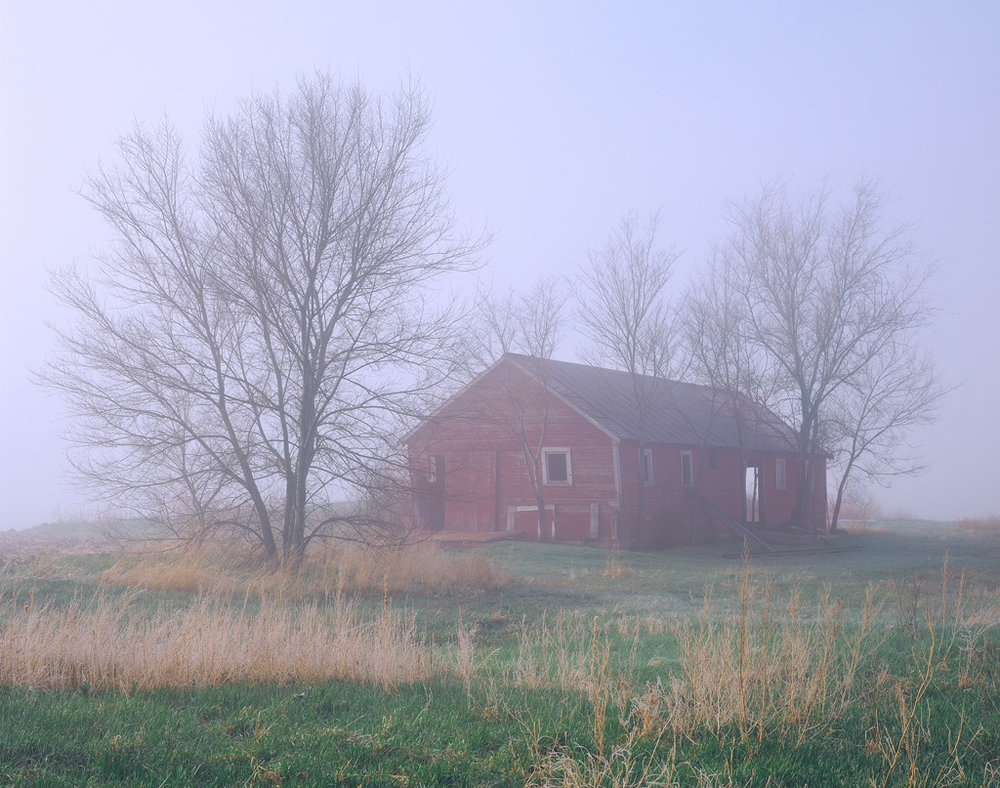 Foggy Barn