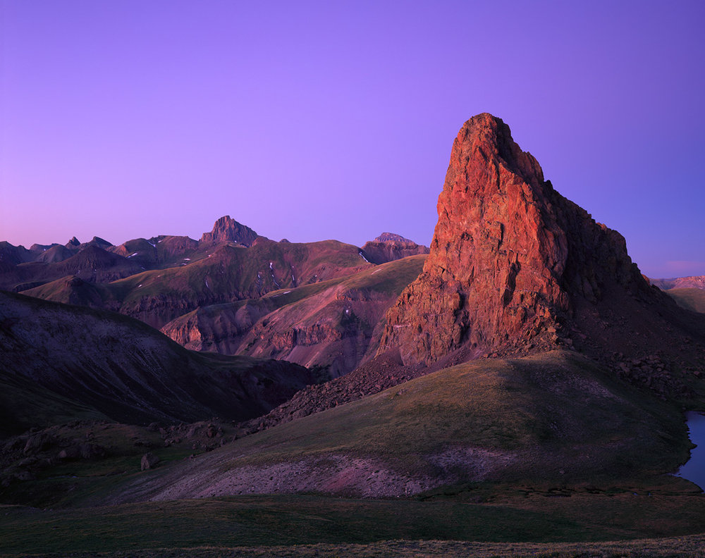 """Twilight Spire"" - Late evening glow in the high country of southwest Colorado.  Velvia 50 4x5, 135mm lens - 3 minutes at f22, no filters.  Prints Available."