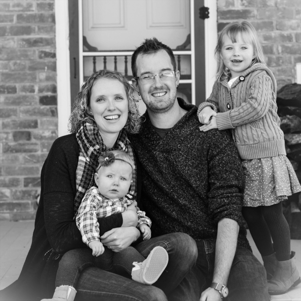 We live together in a garage. - My wife, two daughters, and I live north of Toronto in a homemade apartment. She is a nurse working with babies and seniors. I work for a not-for-profit and am in the middle of a masters program on thinking theologically about community building. Say hi.