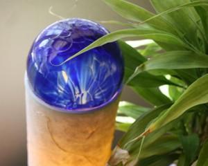 Blue globe light James Ochoa
