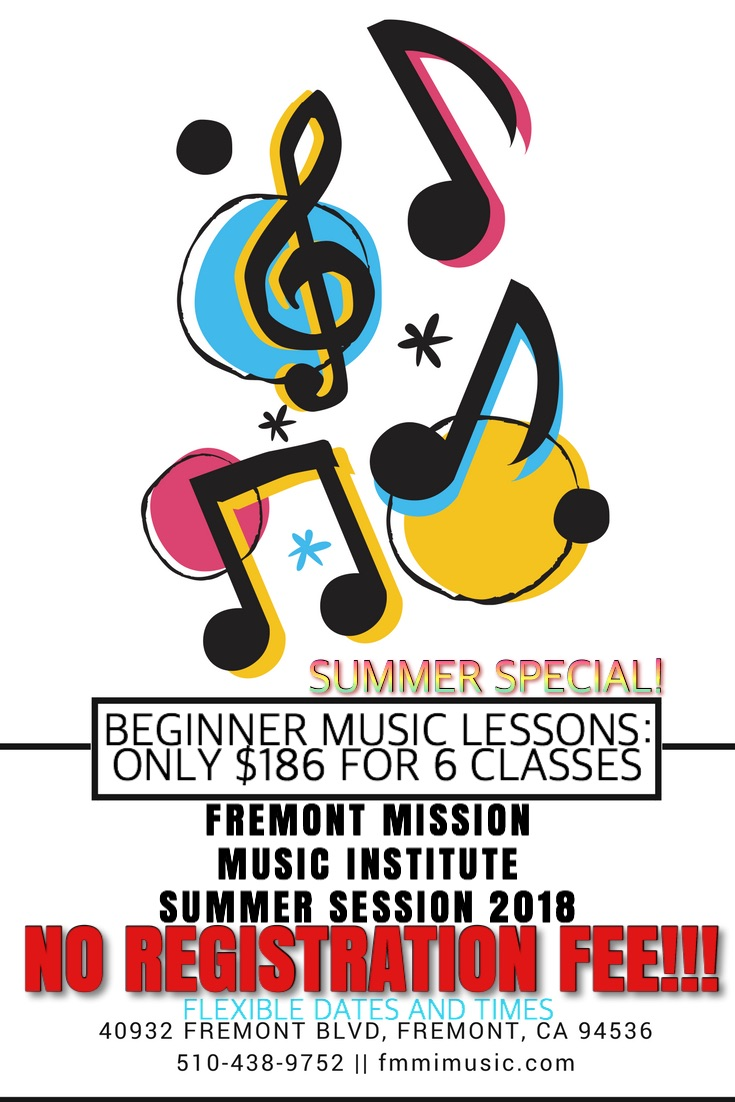 FMMI SUMMER SESSION - FMMI is holding a special offer for beginner music students this summer! Please see the flyer for details and contact us to schedule a tryout.