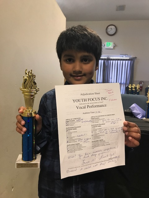 Ishaan Wankhade - Double Grand Champion in Vocal Performance