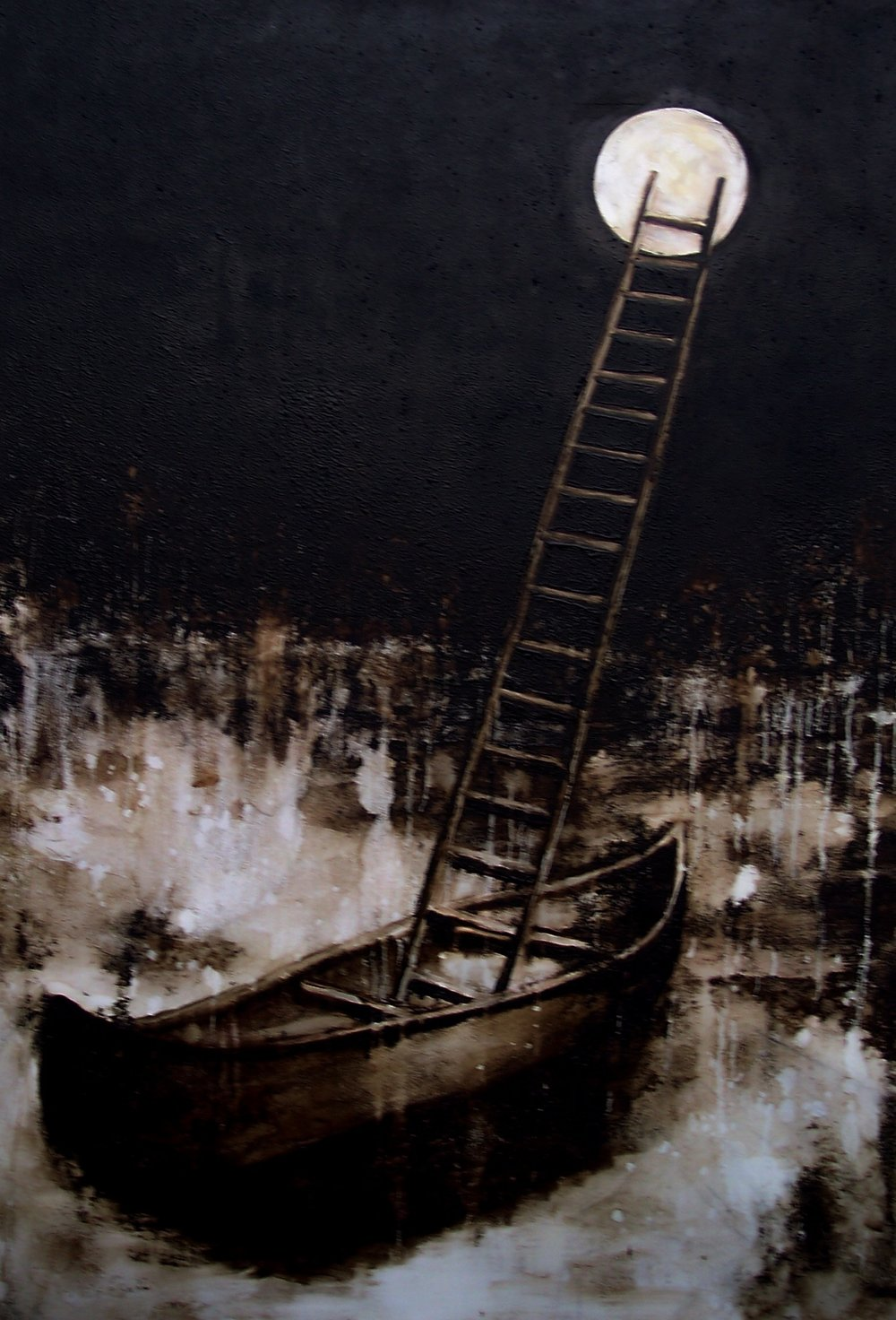 Departure , one of the eight paintings showcased in the O'Neil's Building on Main St. downtown.