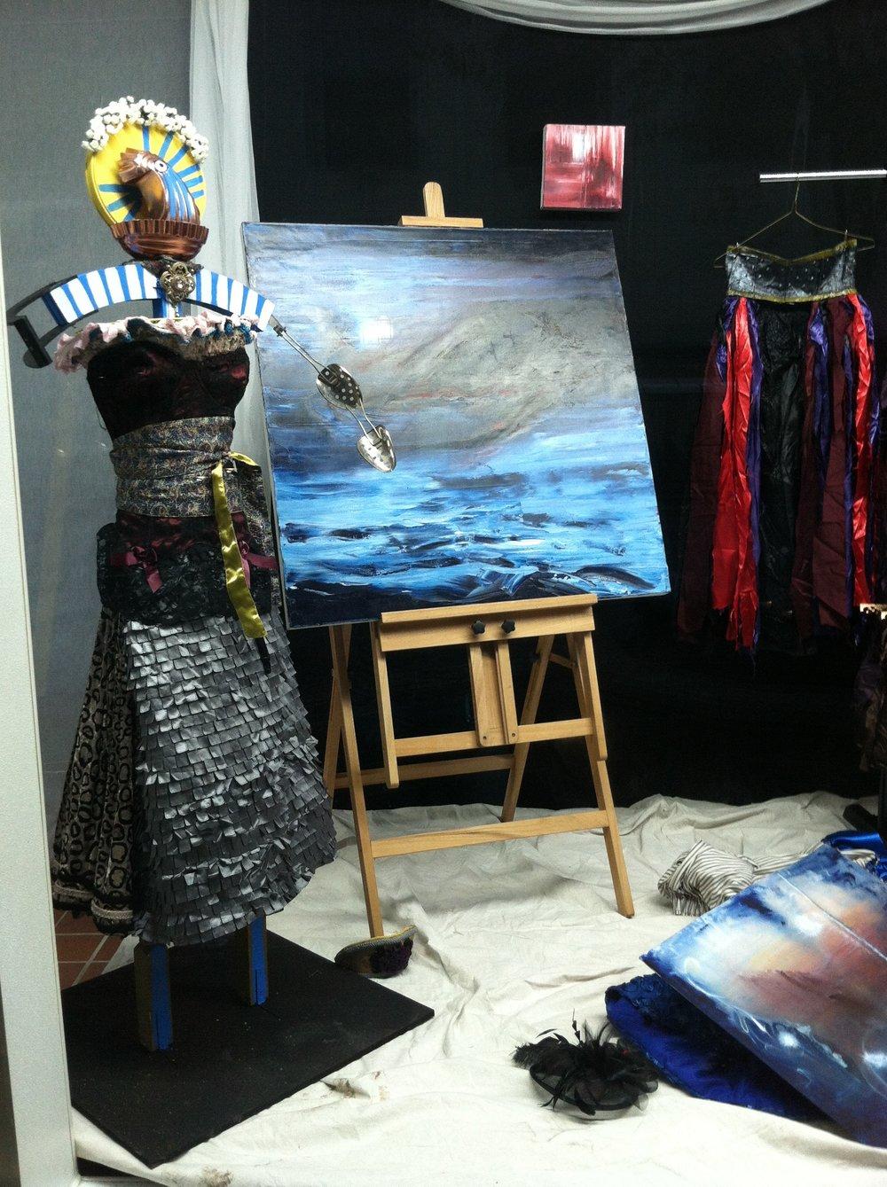 Collaborative installation between Inda Blatch-Geib and Alice Klock.
