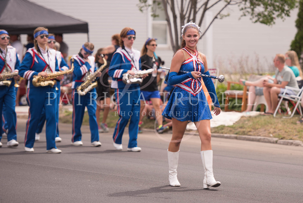Ruth-Anne Middlemiss leads the OFA Marching band in the 2016 edition of the St. Lawrence Valley Seaway Festival in Ogdensburg, NY.
