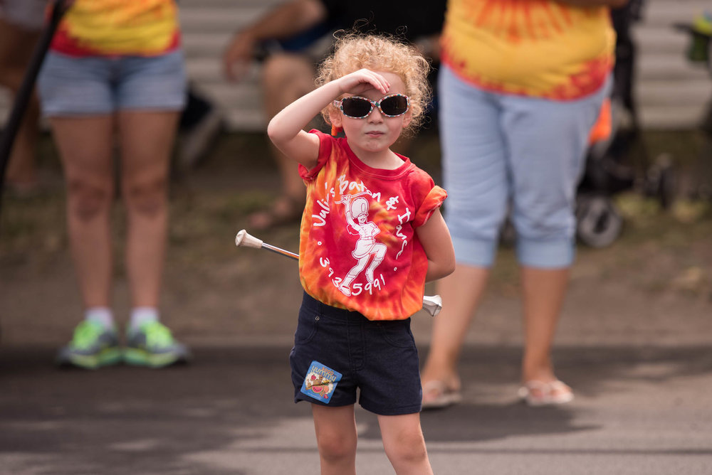 Here's a cutie from the baton group at the 2016 Seaway Parade.