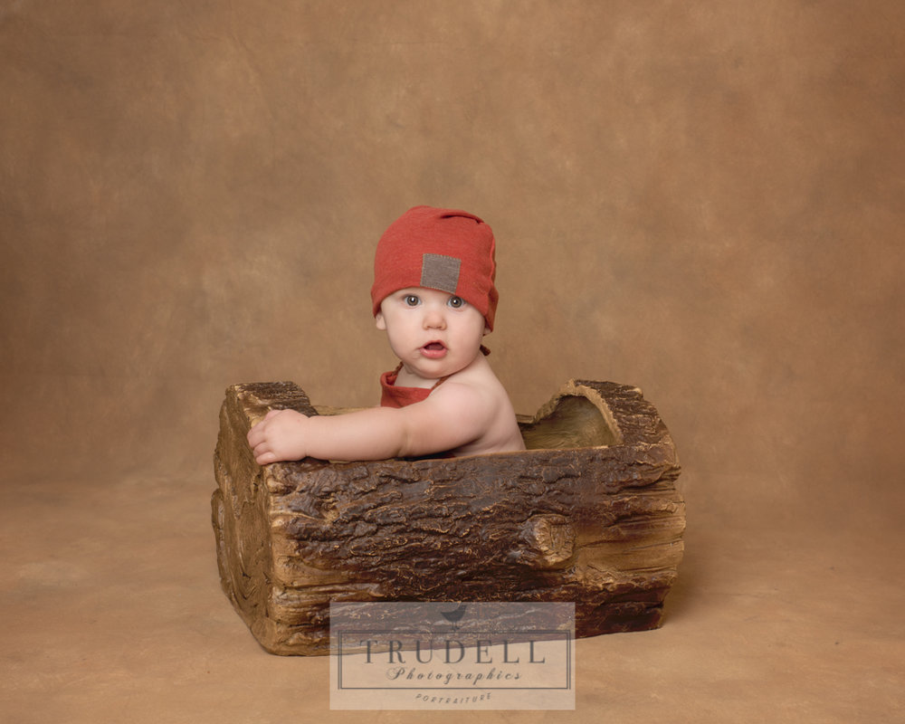 Sterling in a log.