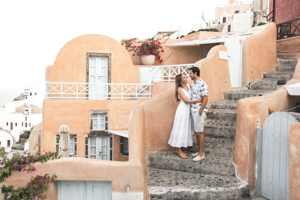 mackenzie & blake - santorini | honeymoon