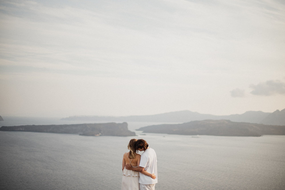 Kristin + isaac - santorini | engagement