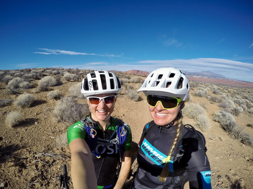 Skills clinics for women by women on mountain bikes