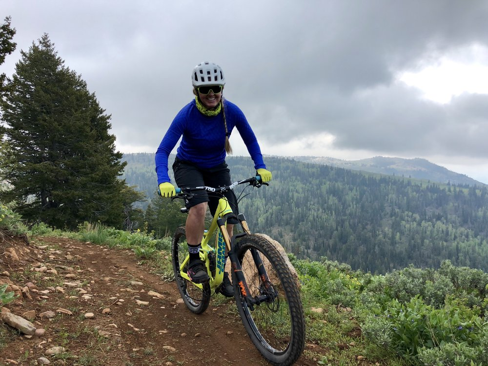 Women Mountain Biking in Utah, Mountain Bike Skills Park City, Mountain Bike Skills Powder Mountain