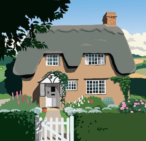 Fictional Blossom Hill Cottage, image from   BBC Radio 4 website