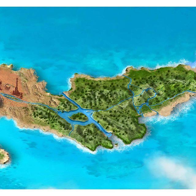 The World of AWAY Part II - Arid desert & lush jungle  #tropical #archipelago #mountain #jungle #desert #map #worldmap #world #island #nature #vr #virtualreality #occulus #htcvive #videogames #game #indiegame