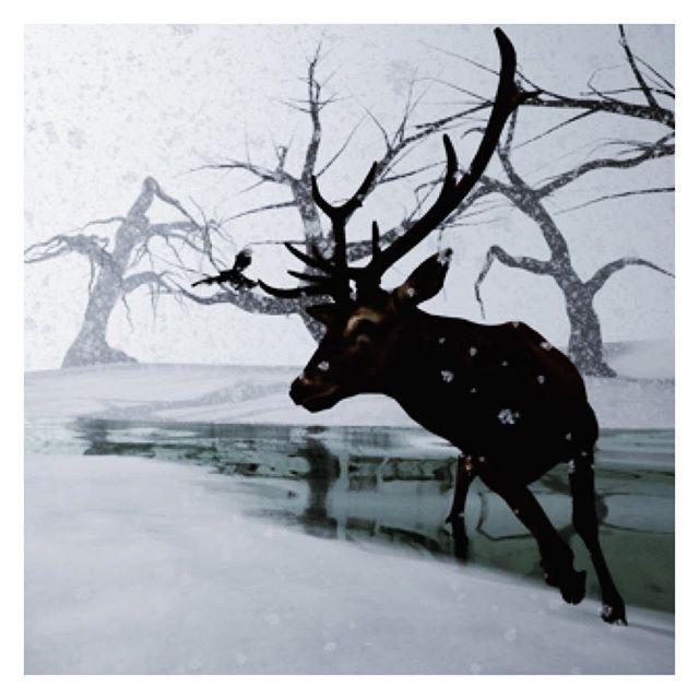 Happy Holidays! #reindeer #winter #digitalart #vr #virtualreality #game #videogame #indiegame #htcvive #gearvr #occulus