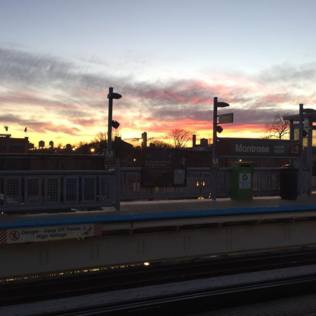 CTA morning commute. Cold, but beautiful.