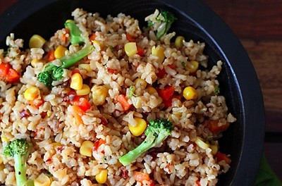 Vegetable And Brown Rice Stir Fry