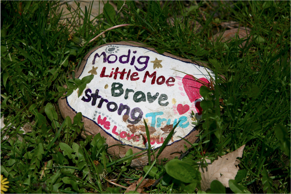 """Little Moe's"" memorial marker. Michael Davis Photo 