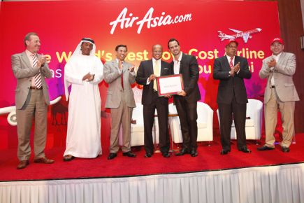 Recieving Award from Air Asia in Singapore.Jpg