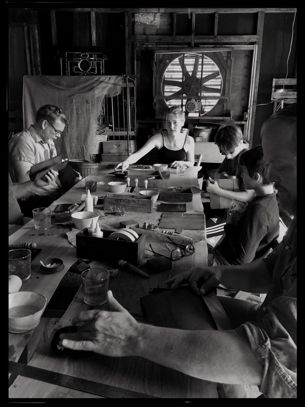 Fish & Bicycle Hand Leather Smithing - photo Juliette Hermant -8
