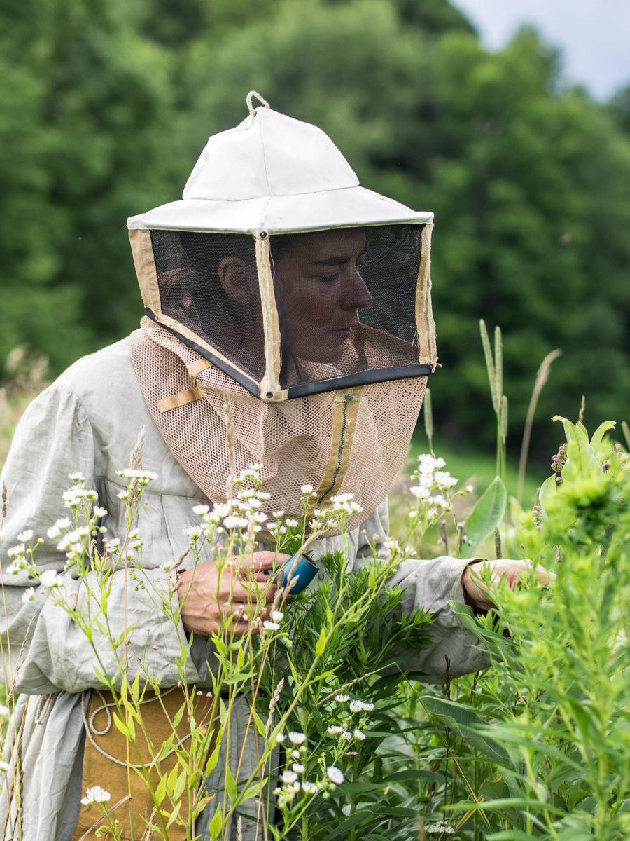 """""""Summer pollinator walk in the Catskill's with Juliette before a hive inspection"""" Photo by  Riley Salyard s"""