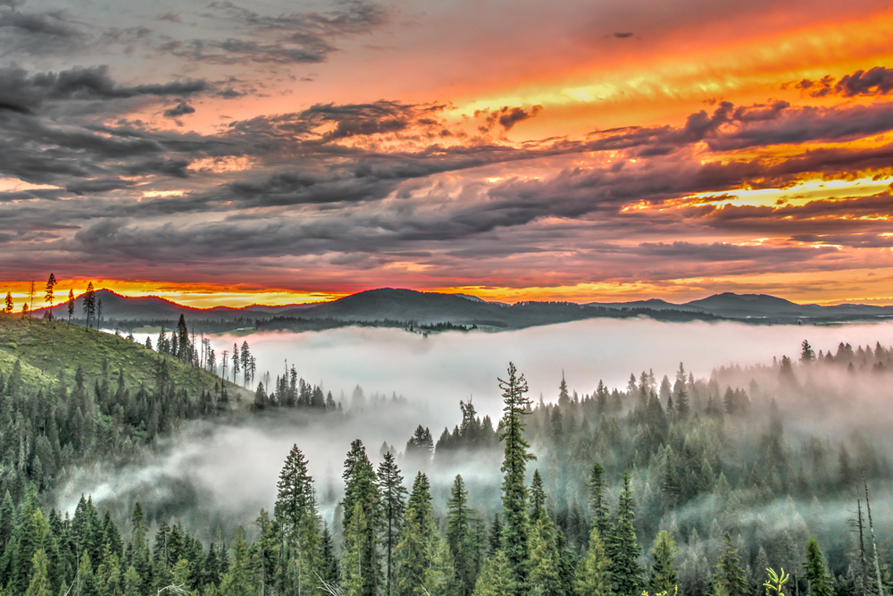 Inversion Sunset