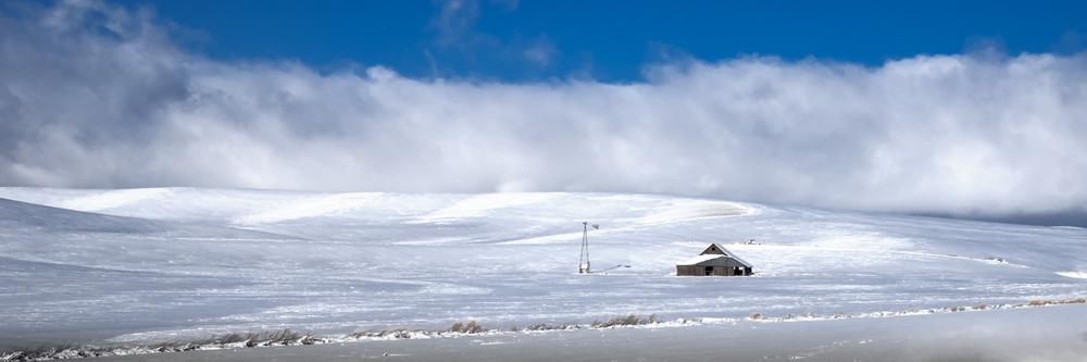 Palouse Panoramic Snow Scene