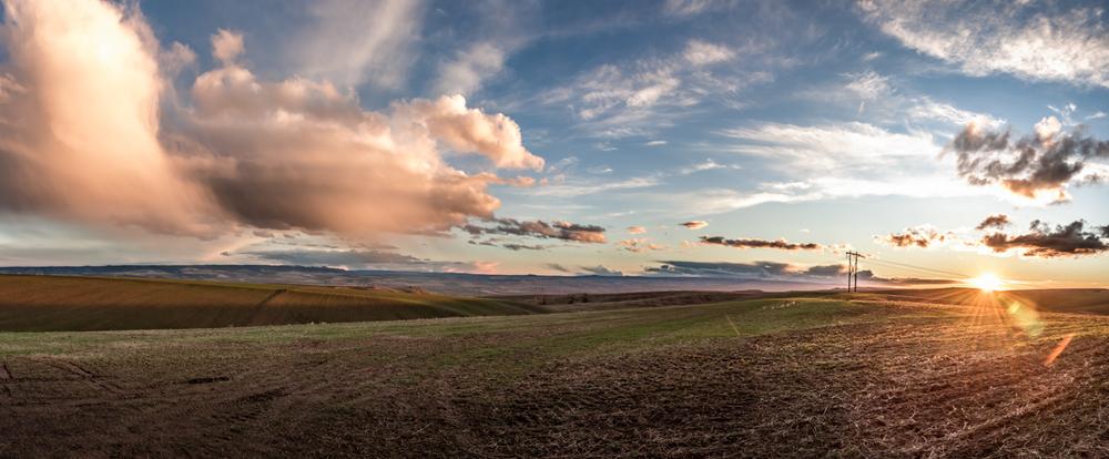 Valley View Sunset Panoramic