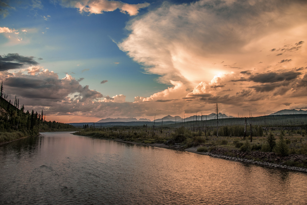 Flathead River and Stormy Skies