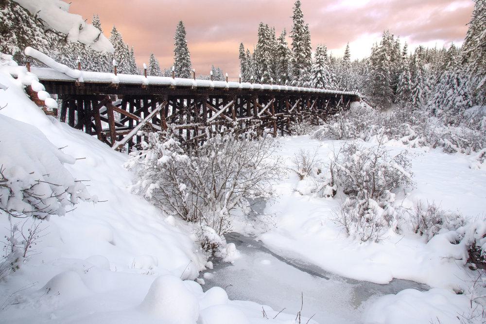 Old Trestle in Winter