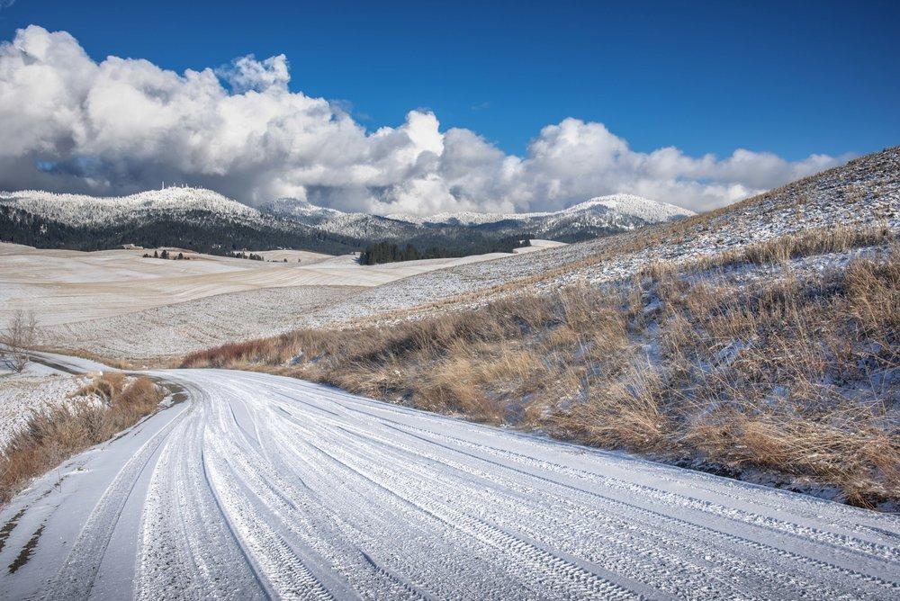Winding Winter Roads