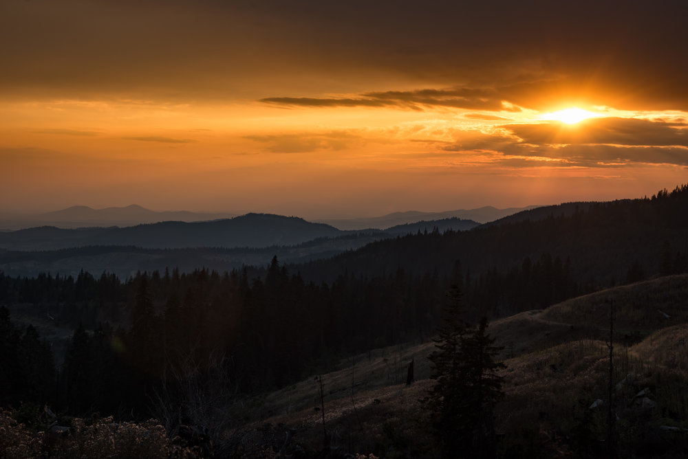 Autumn Sunset - Clearwater Mountains