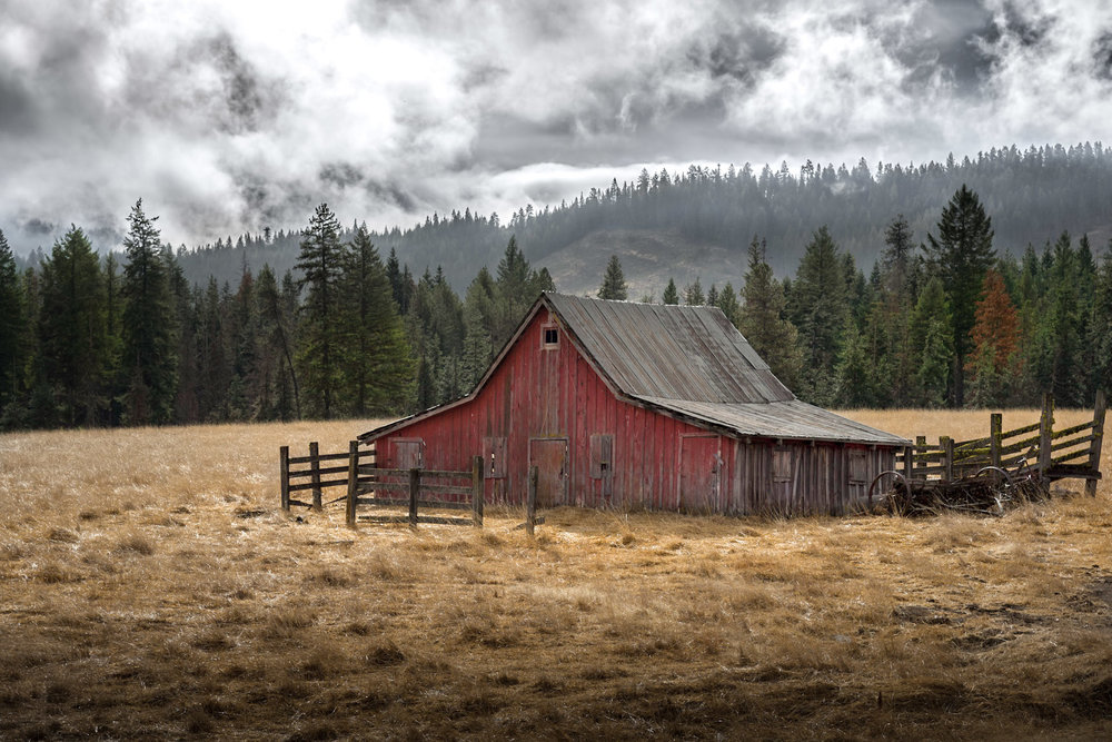 Red Barn and Fall Weather