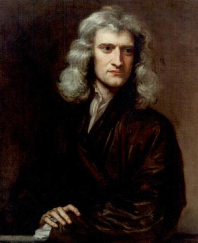 Isaac Newton, whose Principia Mathematica was first presented to the Royal Society on April 28th, 1686 (thanks to my friend Mark S. for pointing out that significant historical anniversary). Wikimedia commons (link).