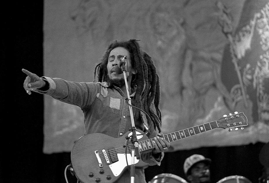 Bob Marley. Wikimedia commons (link).