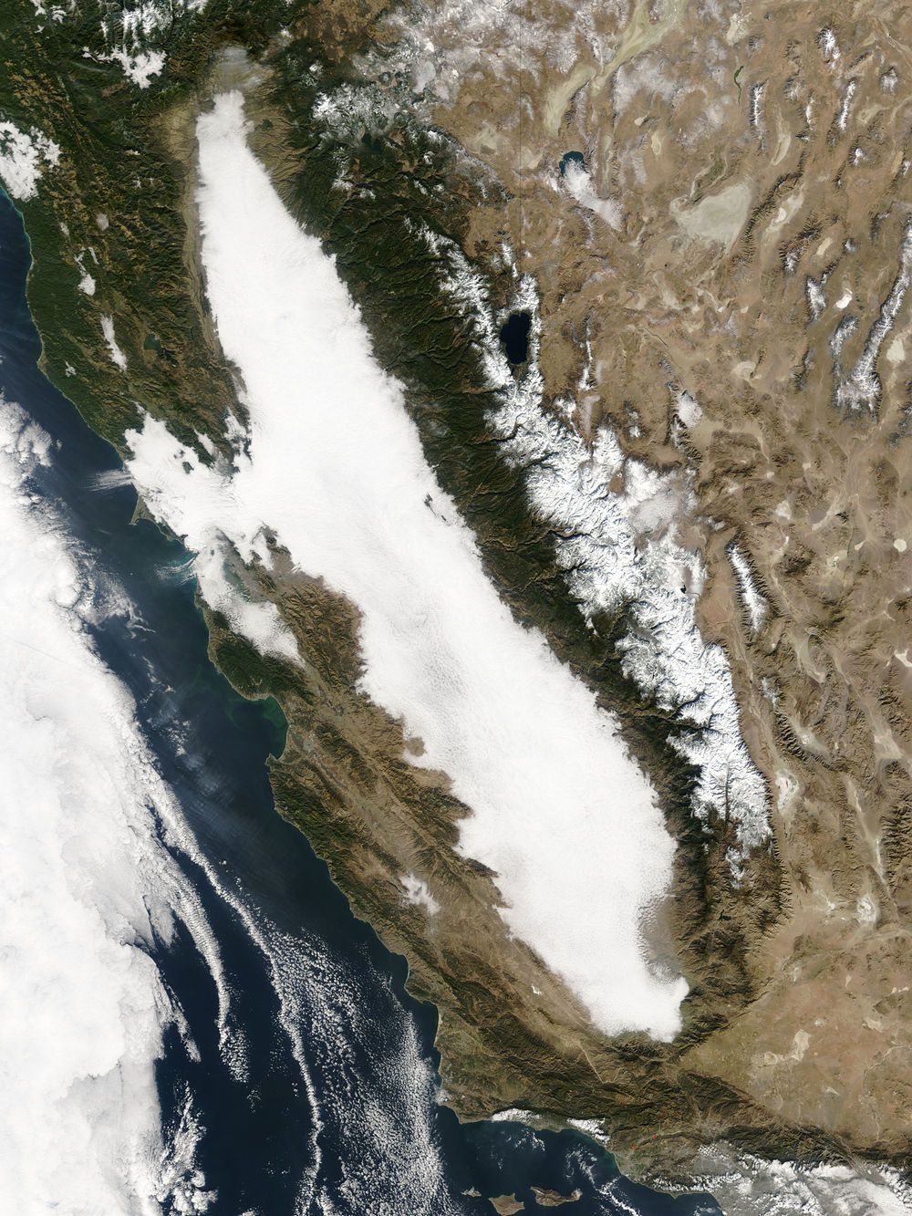 image: California covered in fog; Wikimedia commons (  link  ).