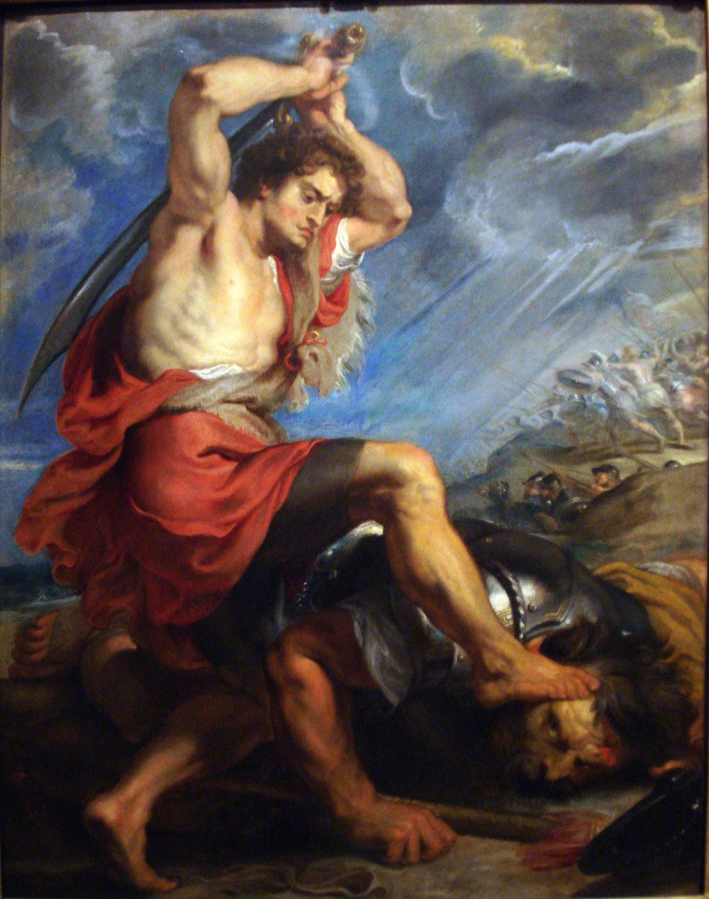 image:     David Slaying Goliath    , Peter Paul Rubens (1577 - 1640).