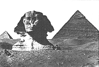 Photo from 1859 showing Sphinx buried in the sand, with only the head protruding, Wikimedia commons (  link  ).