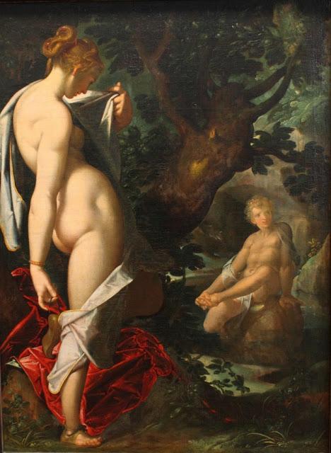 image: Hermaphroditus und die Nymphe Salmakis , Bartholomeus Spranger (1546 - 1611). Wikimedia commons (  link  ).