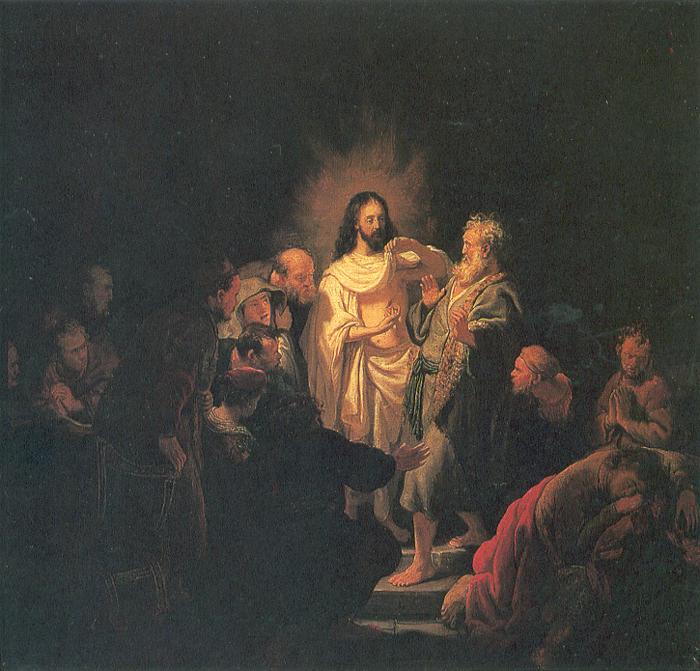 """image: Wikimedia commons (  link  ).  (Note the """"Scorpio-figure"""" asleep in the lower-right corner of the painting by Rembrandt, 1634)"""
