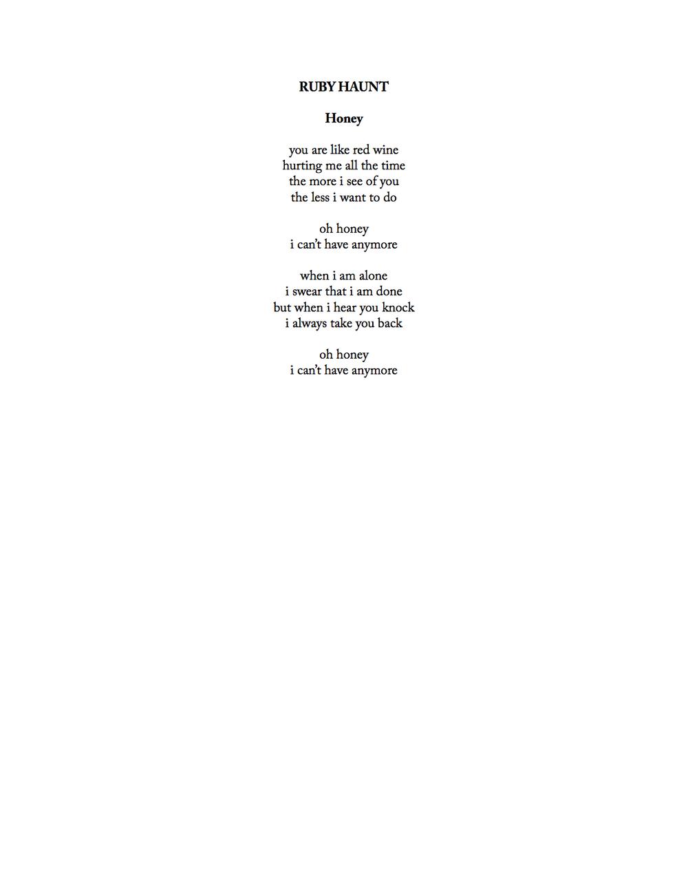 ruby haunt - honey