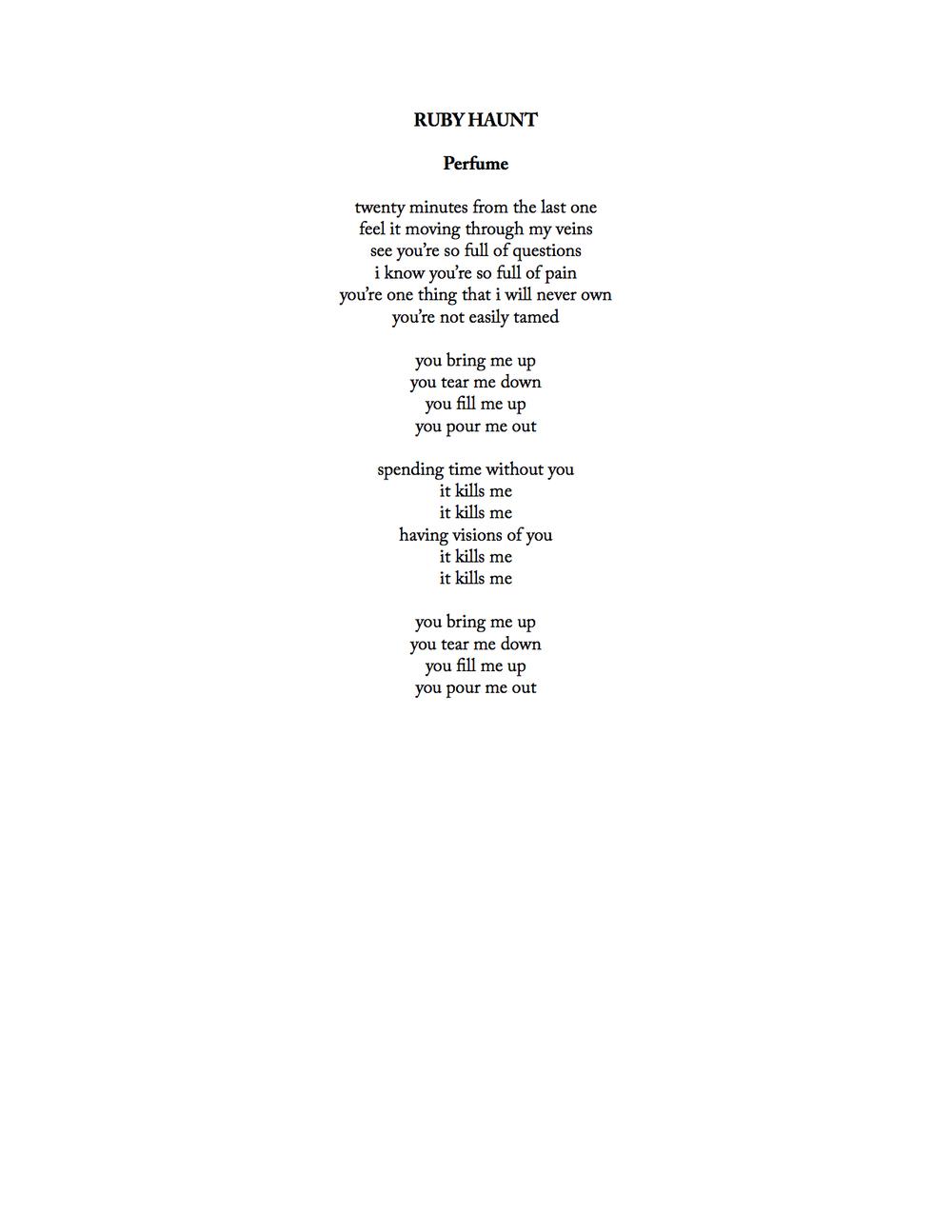 ruby haunt - perfume