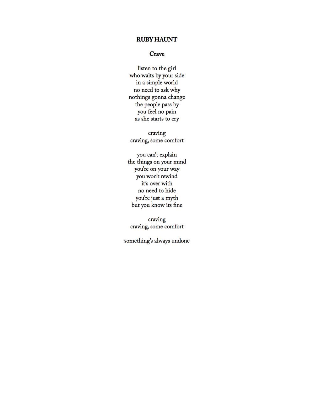 ruby haunt - crave